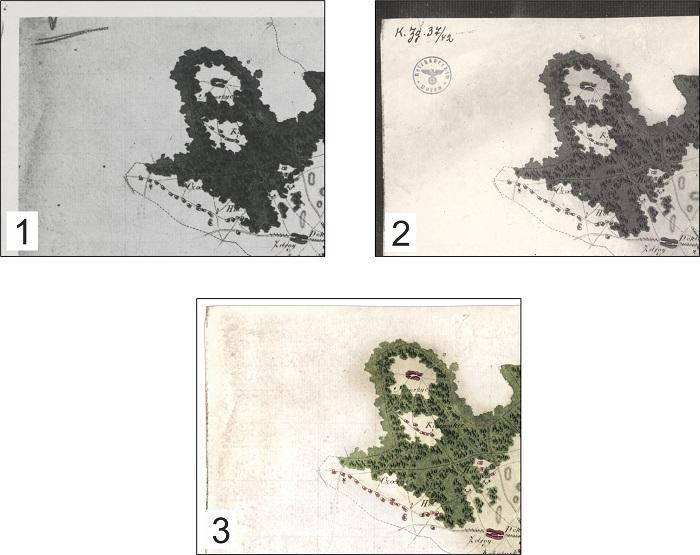 Ryc. 2 Metaarkusze mapy Gaula/Raczyńskiego